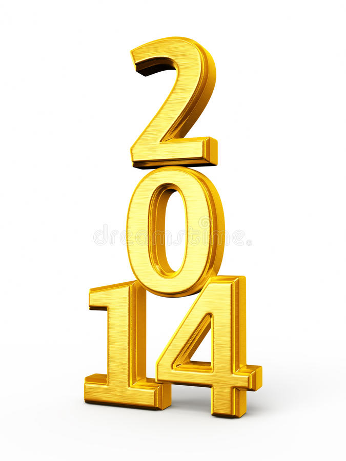 Download New Year 2014 stock illustration. Image of 2014, gold - 32318524