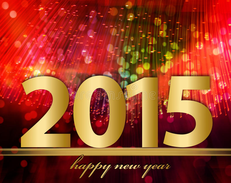 New Year 2015 royalty free illustration