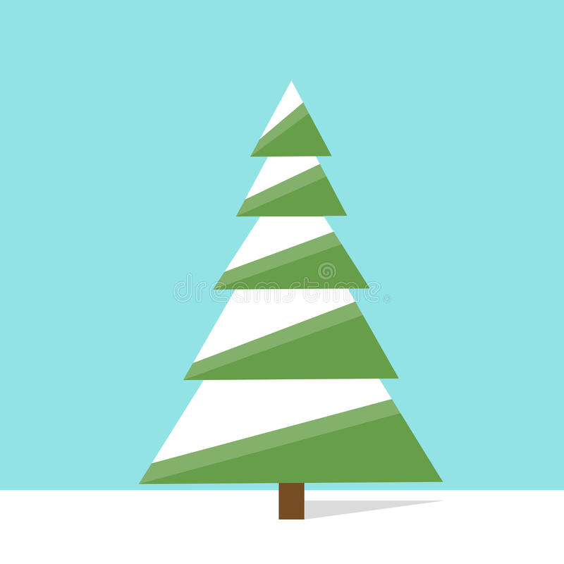 green christmas tree icon