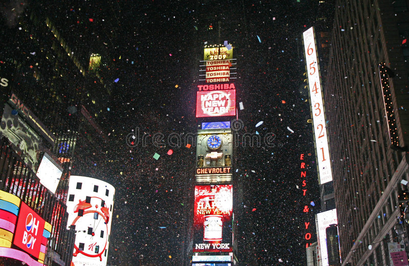 Download New Year Greeted At Times Square Editorial Stock Image - Image: 7603529
