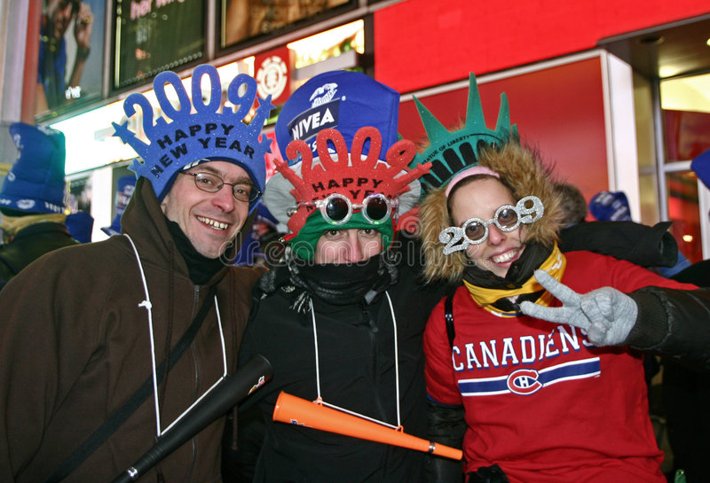 Download New Year Greeted At Times Square Editorial Image - Image: 7603555