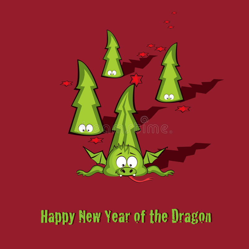 Download New year greeting card stock vector. Illustration of dragon - 21634075