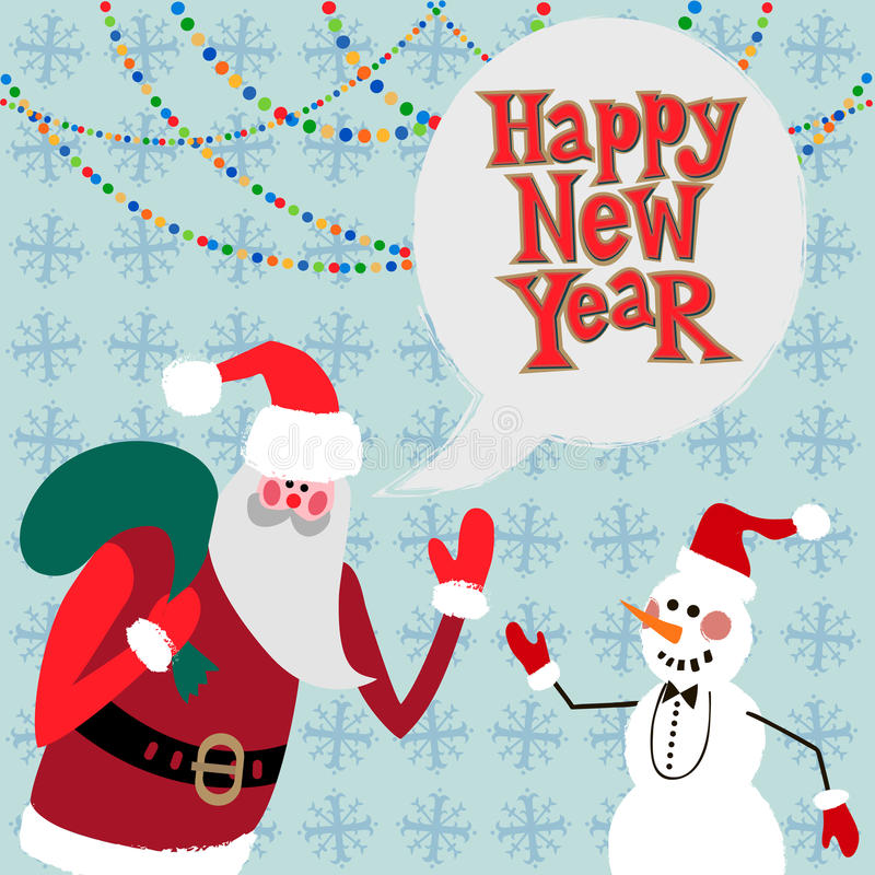 Download New Year Greeting Card Concept. Stock Vector - Illustration of christmas, illustration: 34584430