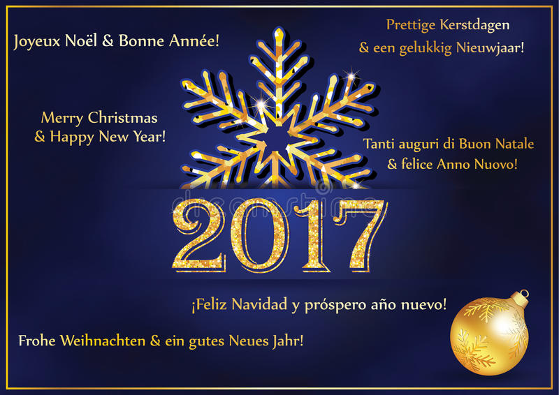 New year greeting card 2017 in many languages stock illustration download new year greeting card 2017 in many languages stock illustration illustration of wishes m4hsunfo