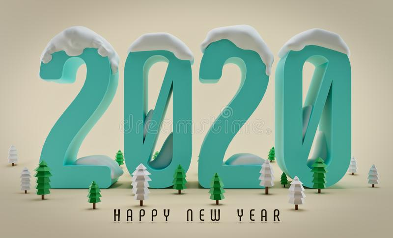 New year 2020, Greeting card royalty free stock images