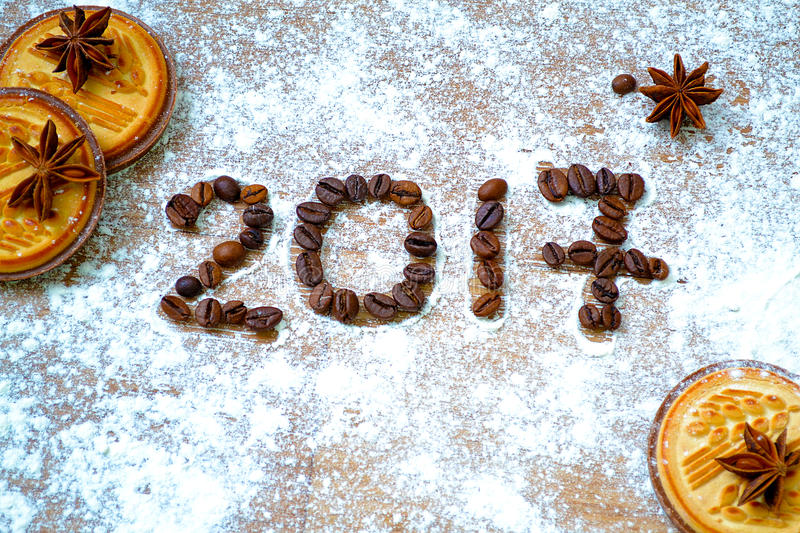 New year greeting. Congratulations for Happy New Year stock photos