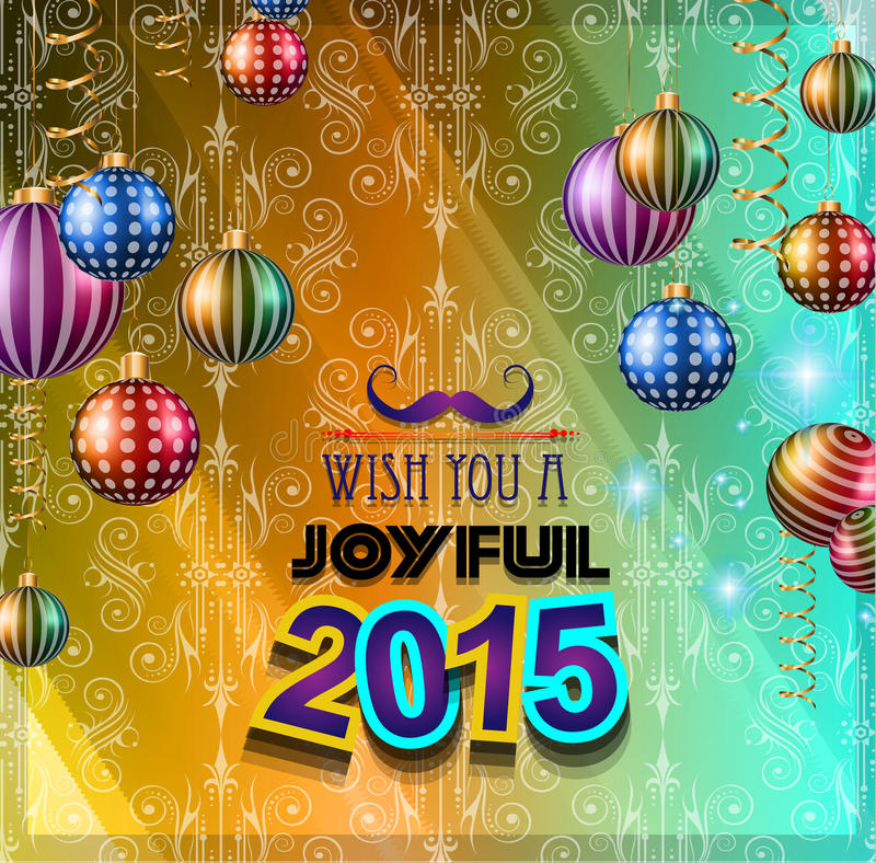 2015 New Year and Happy Christmas background stock illustration