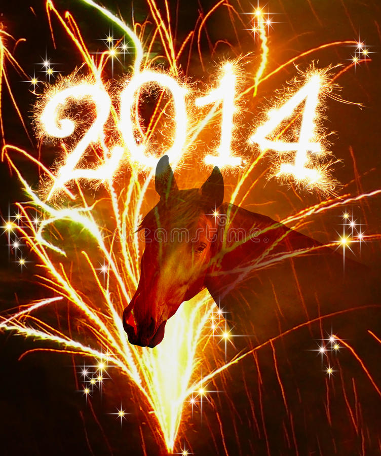New Year 2014. stock image