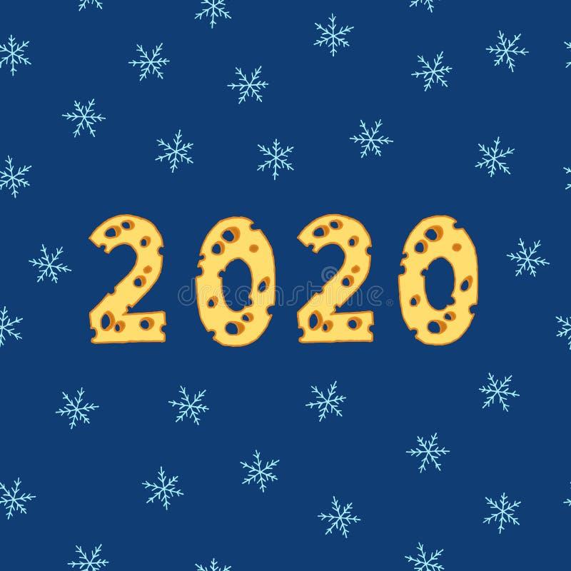 New Year 2020 royalty free illustration