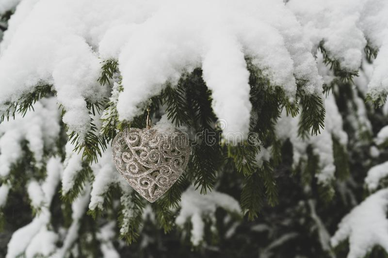 New Year Heart shaped Decoration stock photography