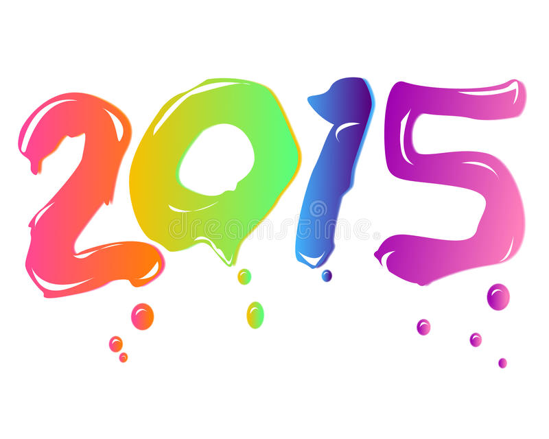 New year 2015 stock illustration
