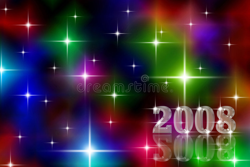 New Year holiday background stock photo