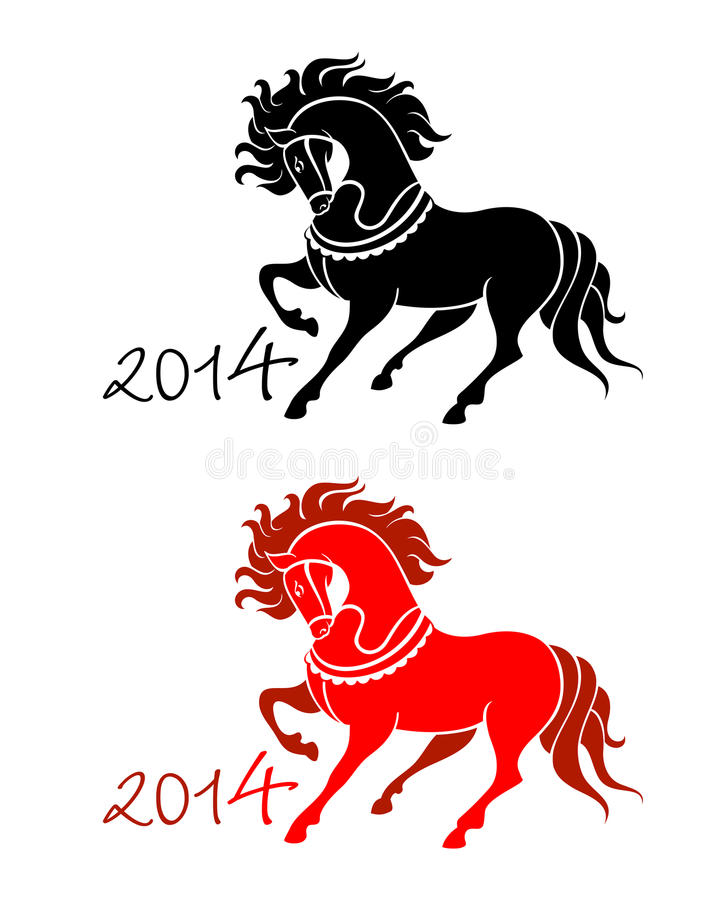 New Year of Horse vector illustration