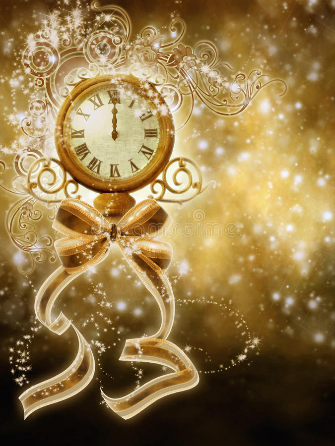 New Year illustration 4 royalty free stock photos