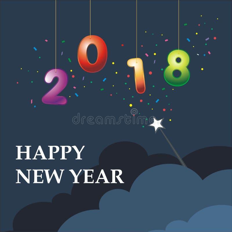 New Year 2018 illustration royalty free stock image