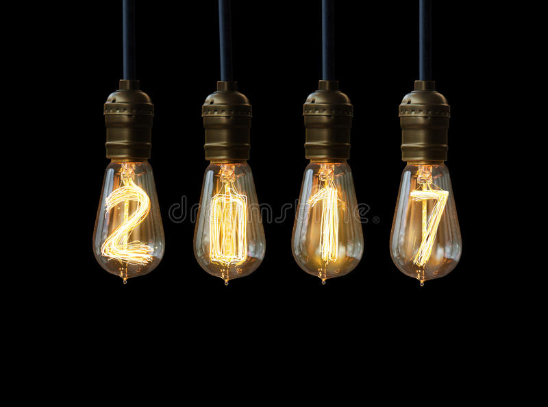 New year 2017. Light bulb,new year 2017