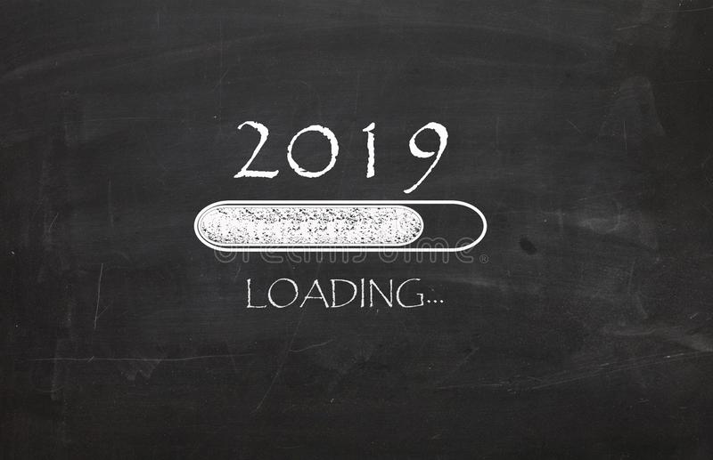 New Year 2019 is loading... stock images