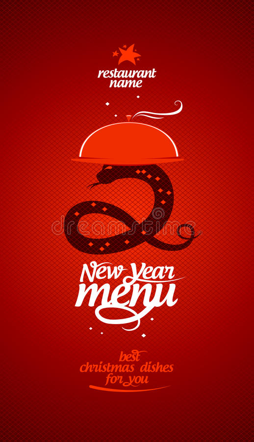 Download New Year menu. stock vector. Image of invitation, list - 27475758