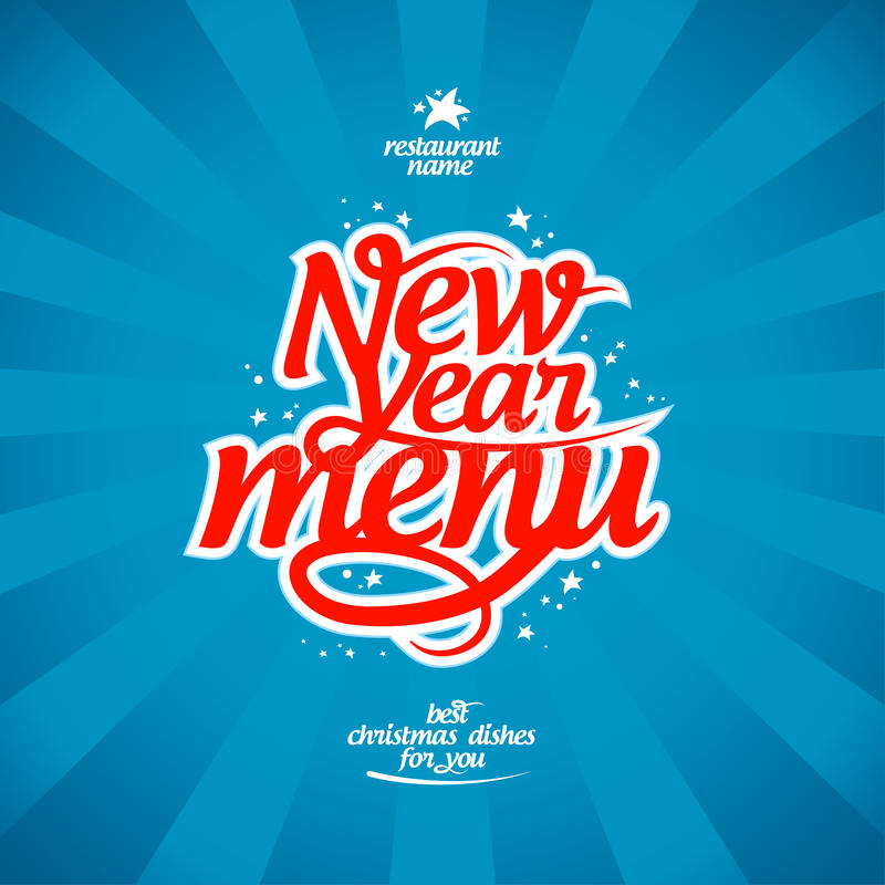 Download New Year menu. stock vector. Image of banner, celebration - 27661712