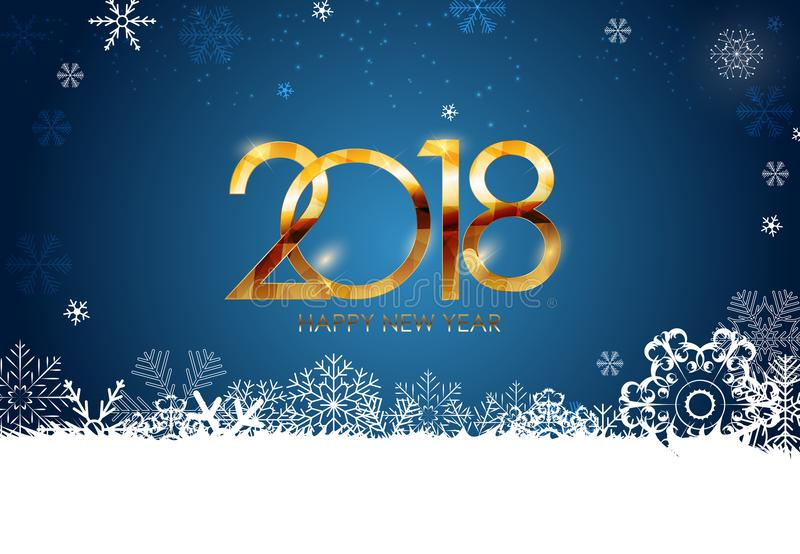 2018 New Year and Merry Christmas Background. Vector Illustration stock photography