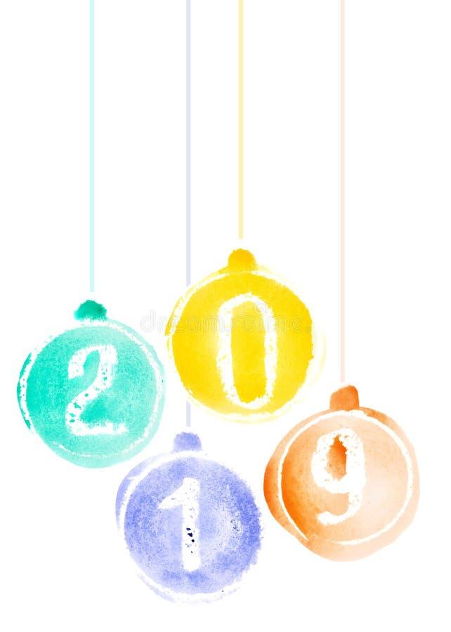 New Year 2019 royalty free illustration