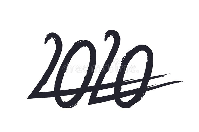 2020 New Year royalty free illustration