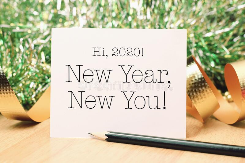 New Year new you with deroration royalty free stock photos