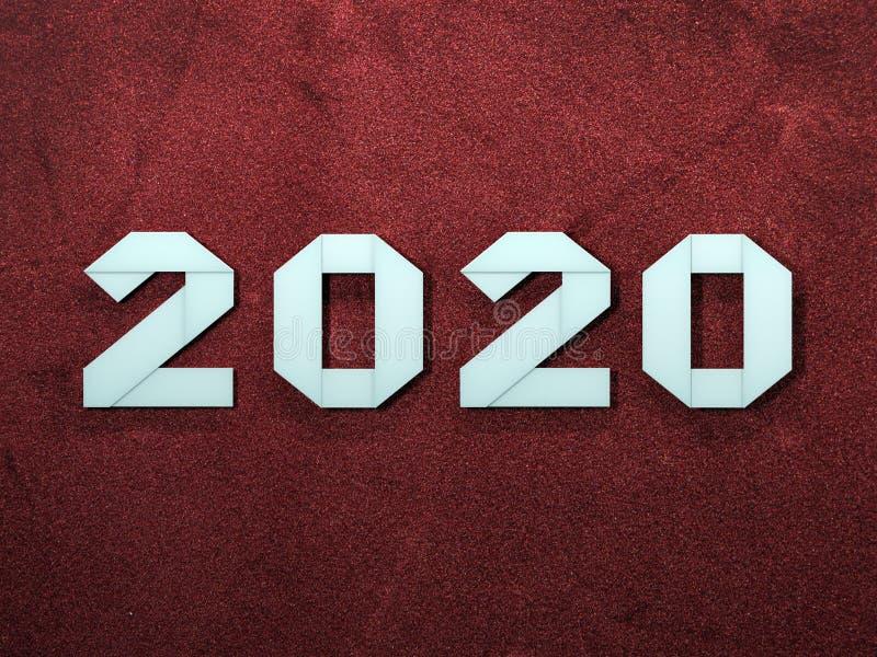 New Year origami 2020 stock photos