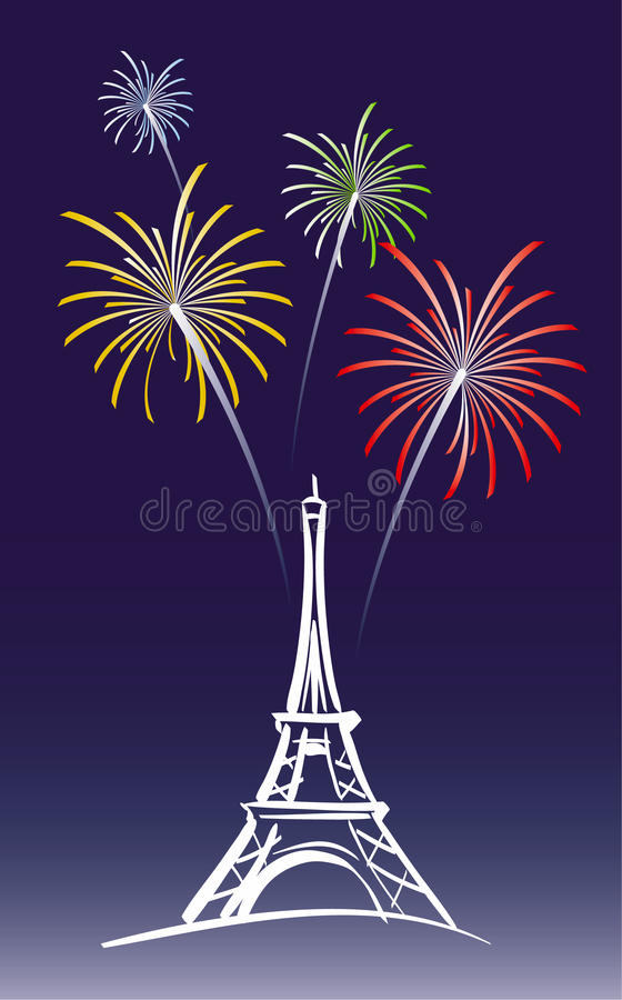 Download New Year in Paris stock vector. Illustration of architecture - 22074174