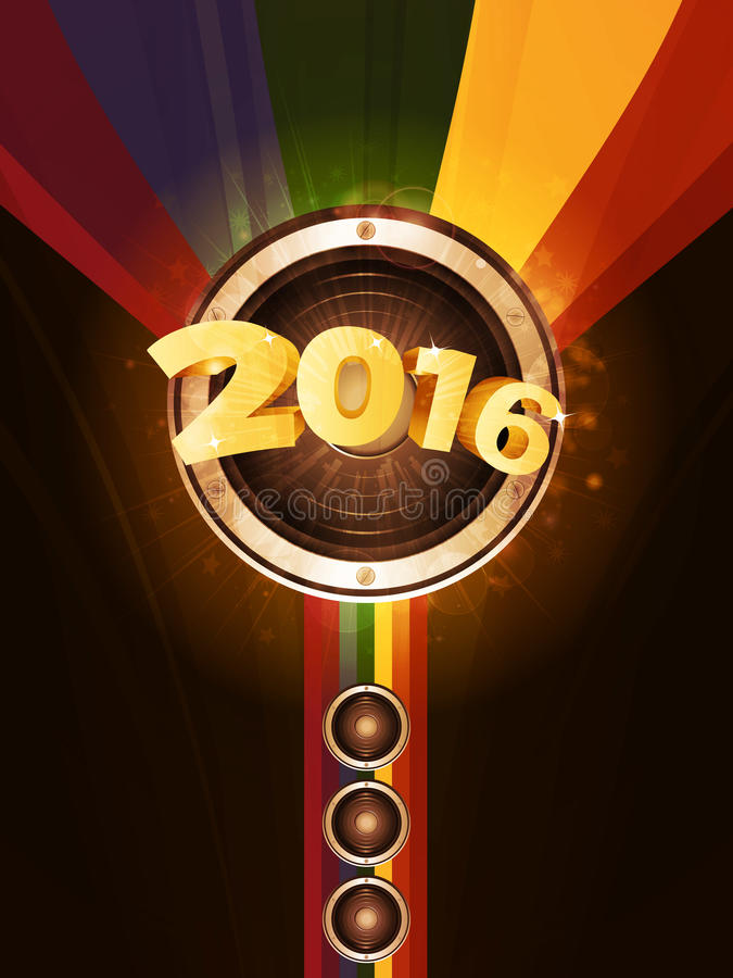 New Year party 2016 background vector illustration
