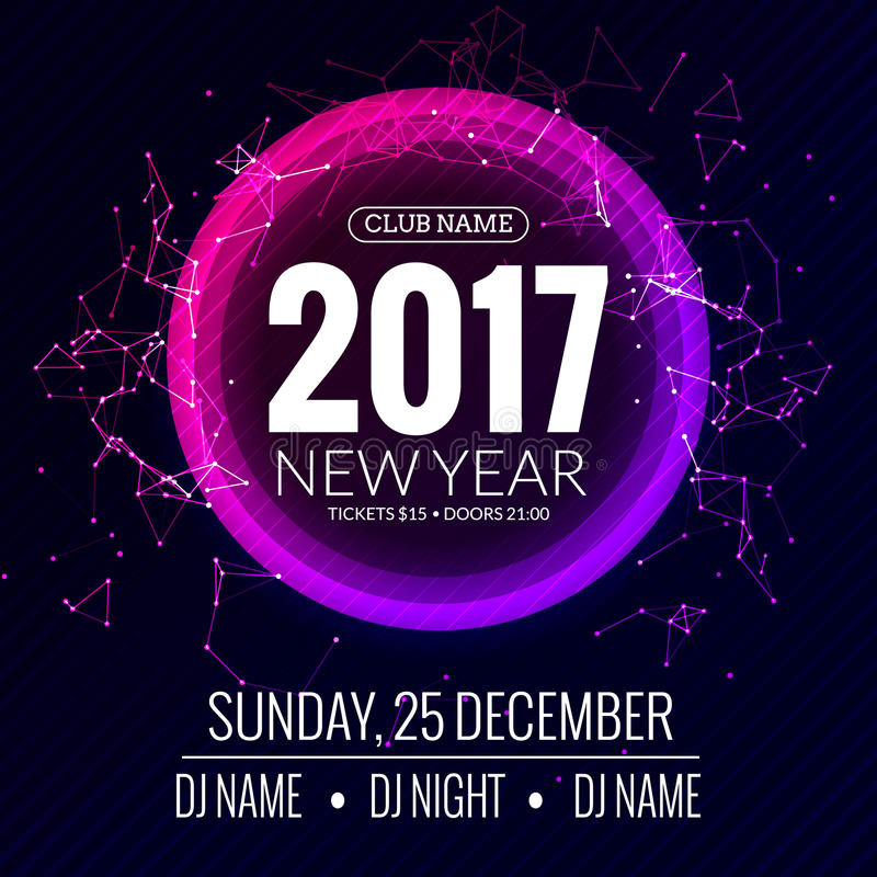 New Year 2017 Party And Christmas Party Poster Template Design – New Year Poster Template