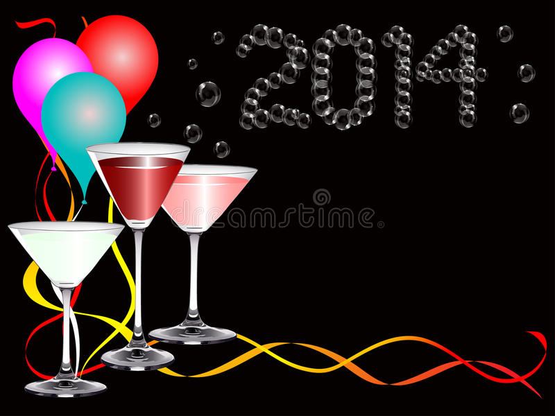 A 2014 new year party image royalty free stock image