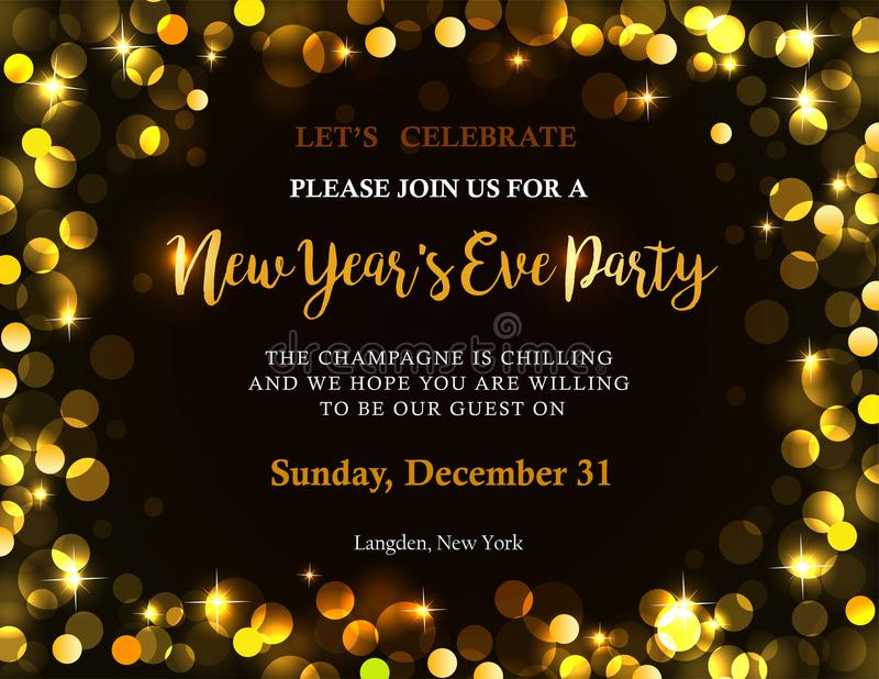 New Year party invitation stock vector. Illustration of contemporary ...
