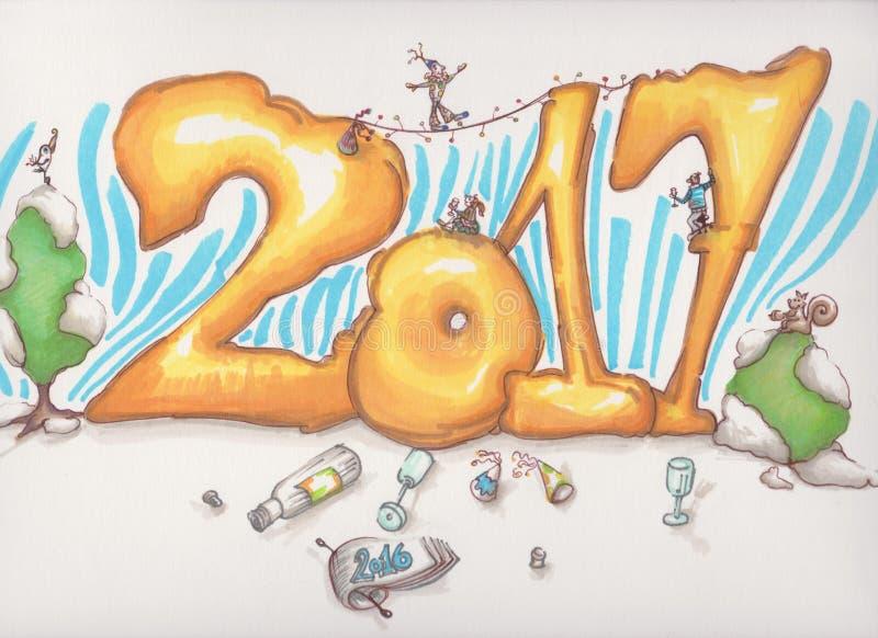 2017 New year royalty free stock photo
