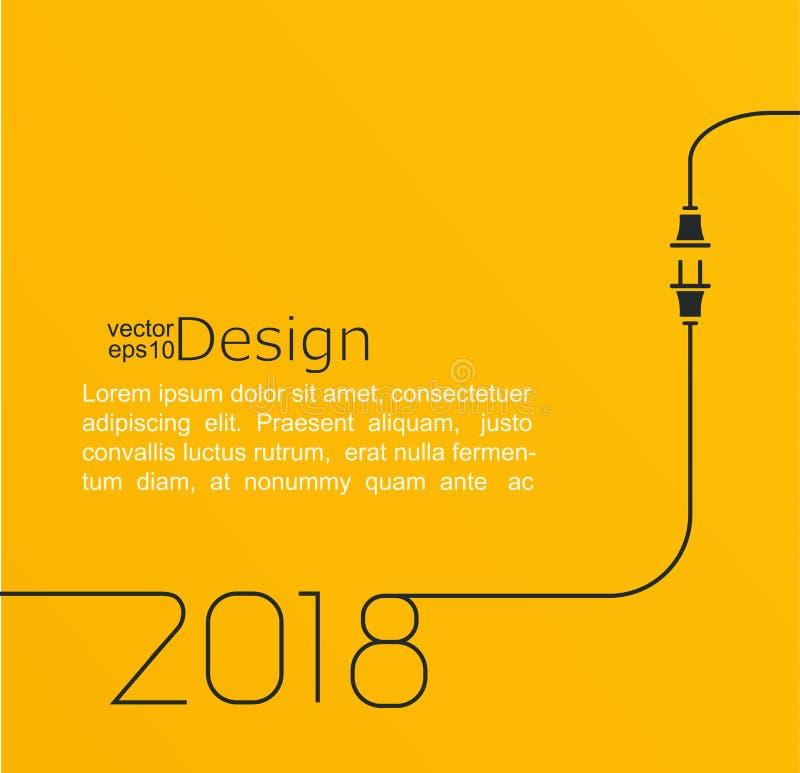 New year 2018 plug and socket. royalty free illustration