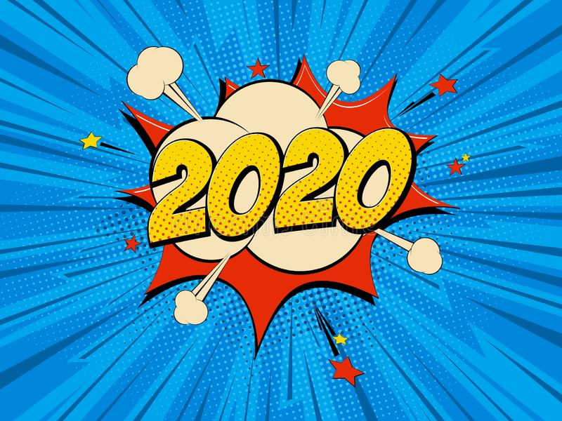 New Year 2020 stock illustration