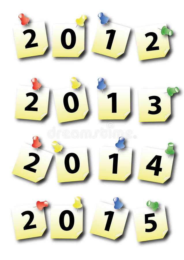 Download New year post-it stock illustration. Image of black, blue - 22718711