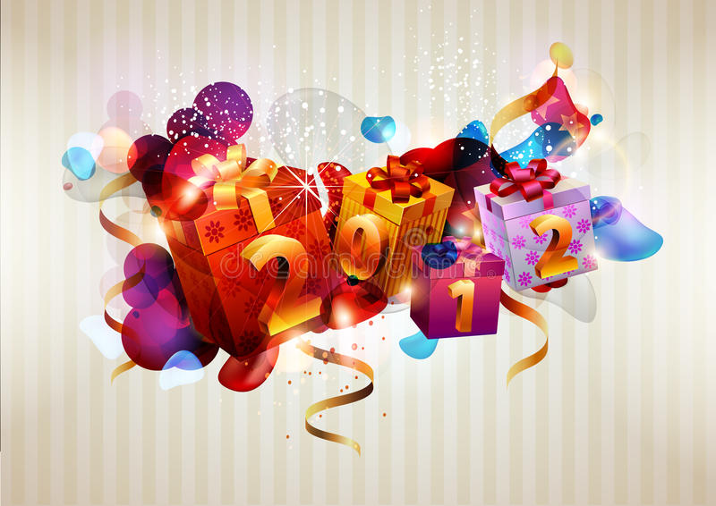 New year poster. royalty free illustration