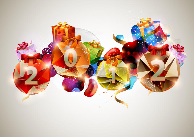 New year poster. stock illustration