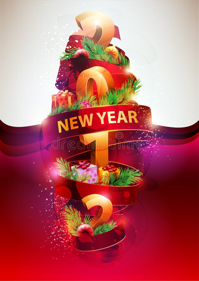 New year poster . royalty free illustration