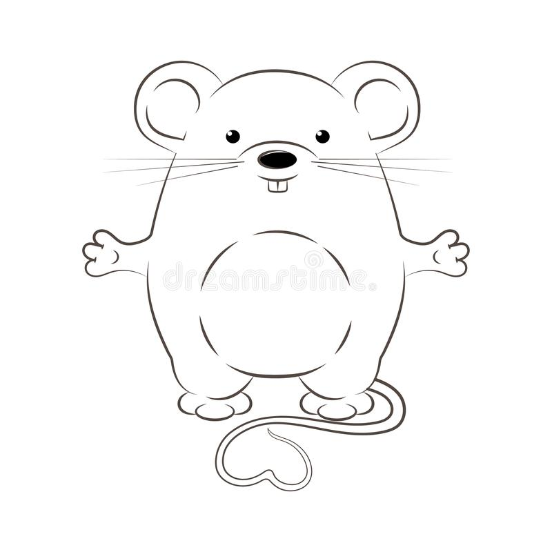 New Year. Rat is a symbol of 2020. stock illustration