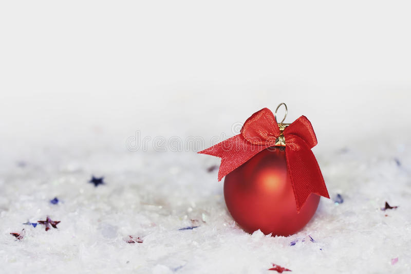 Download New Year red ball stock photo. Image of ribbon, shiny - 26630036