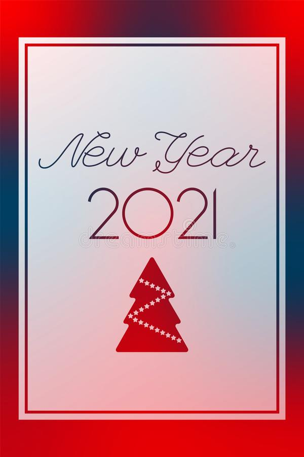 New Year 2021 Red And Blue Vector. Transparent Greeting ...