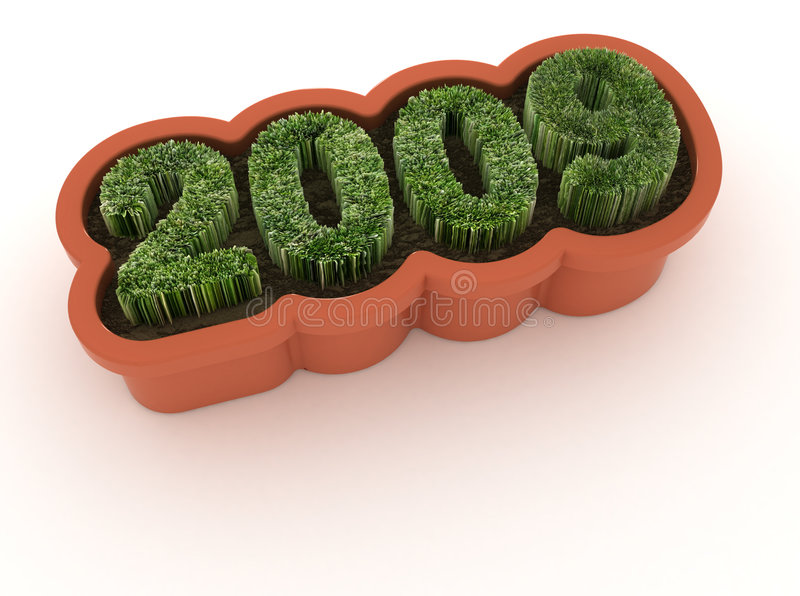 Download New year-renewal & growth stock illustration. Image of green - 6575005