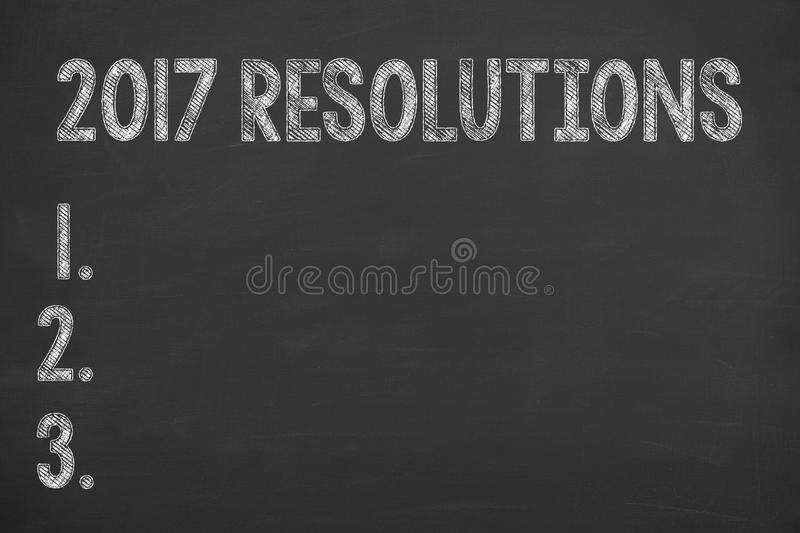 New Year 2017 Resolutions Concepts. Human Hand Drawing New Year 2017 Resolutions Concepts royalty free stock photos