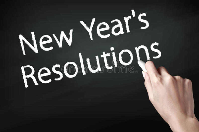 New year resolutions royalty free stock photography