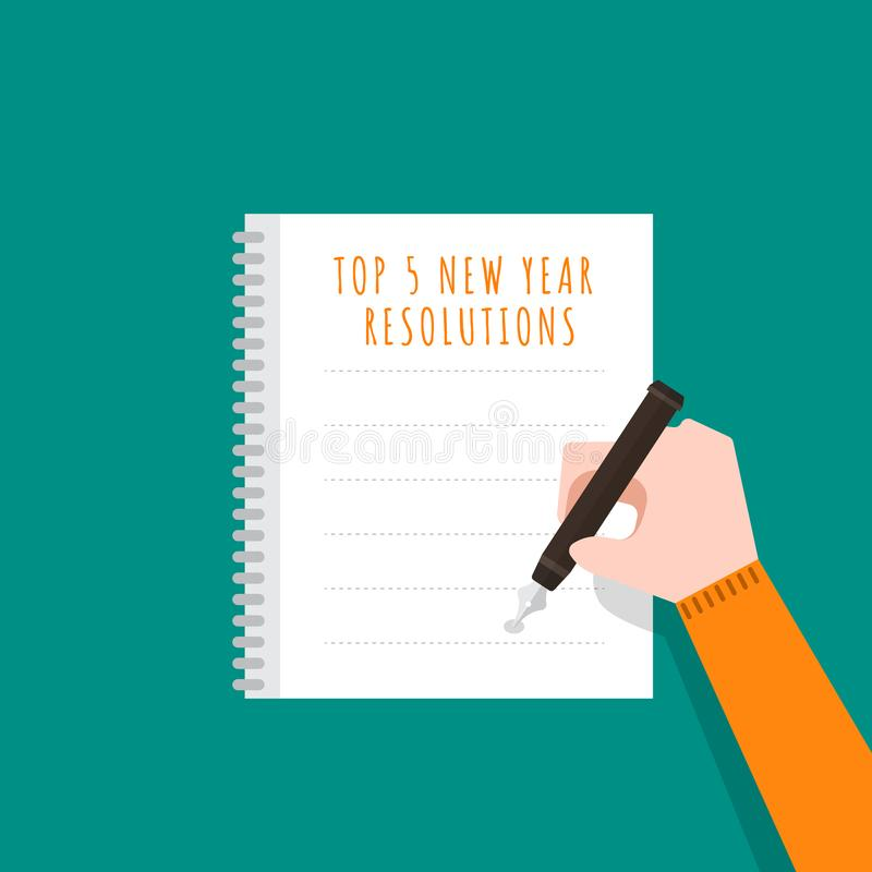 new year resolutions stock illustration