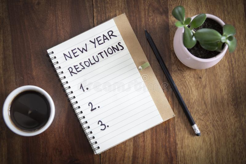 New year resolutions royalty free stock photo