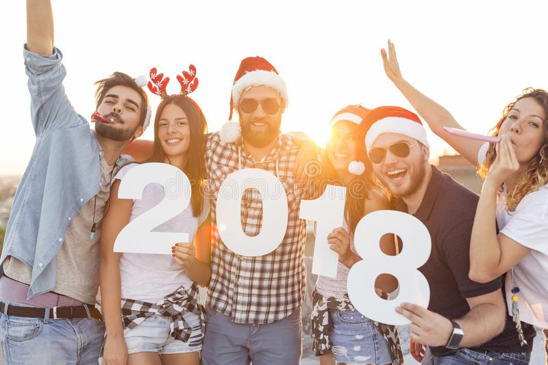 Download New Year Rooftop Party stock image. Image of girl, 2018 - 101636757