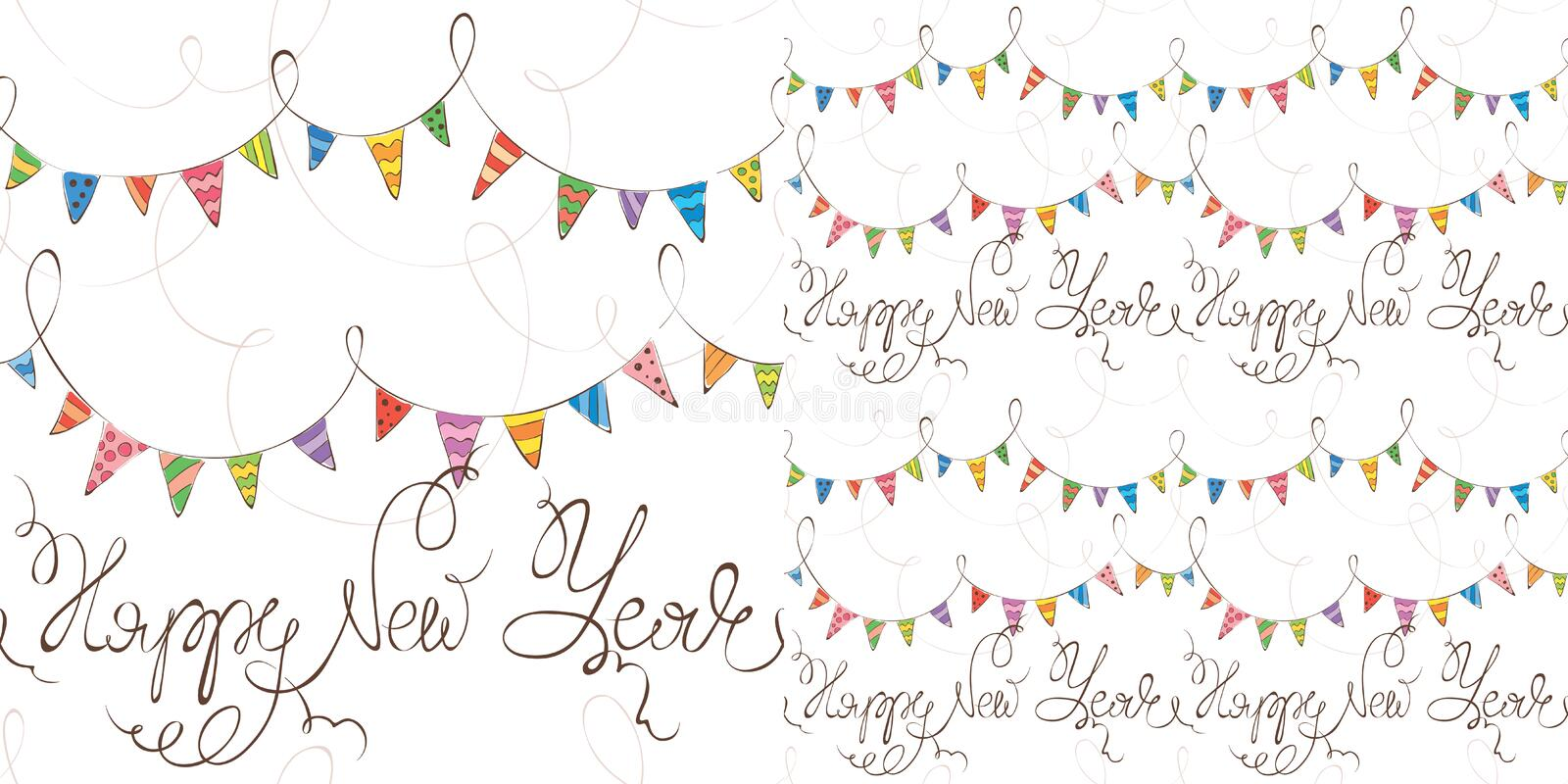 New years background with flags royalty free illustration